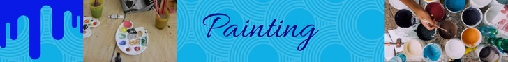 painting palette and paints