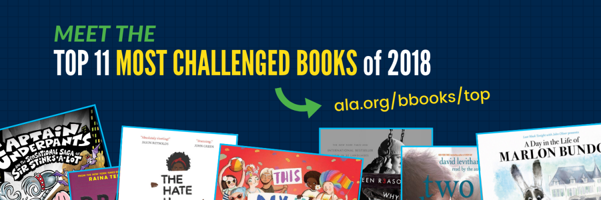 top 11 most challenged books graphic