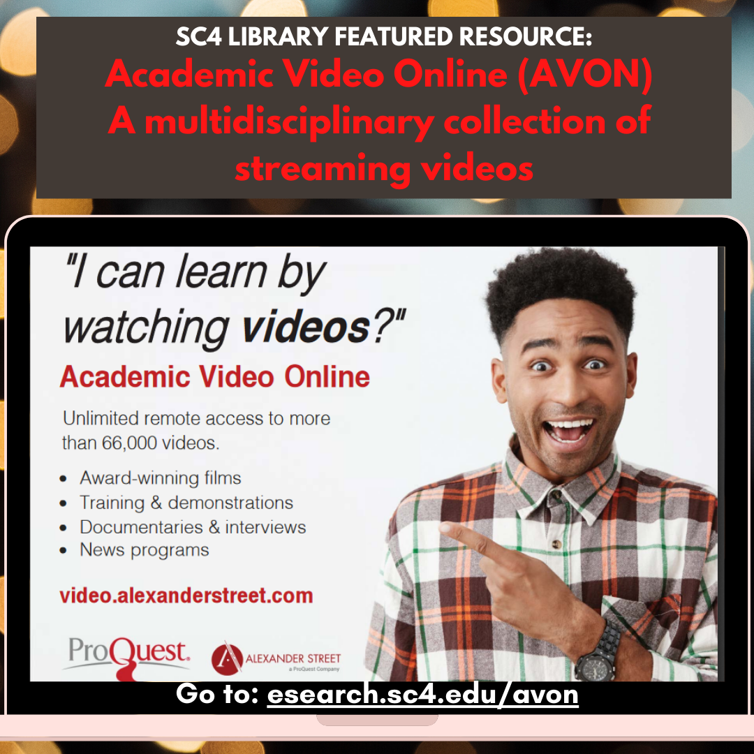sc4 library featured resource: academic video online (avon)