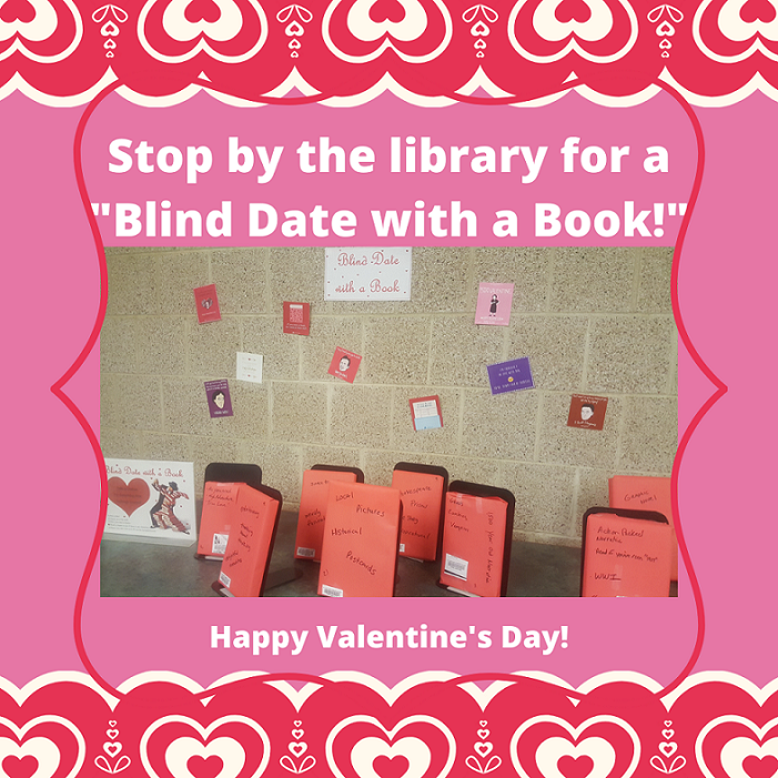 blind date with a book display