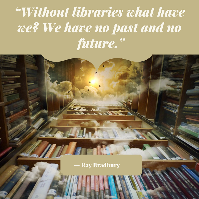 ray bradbury library quote