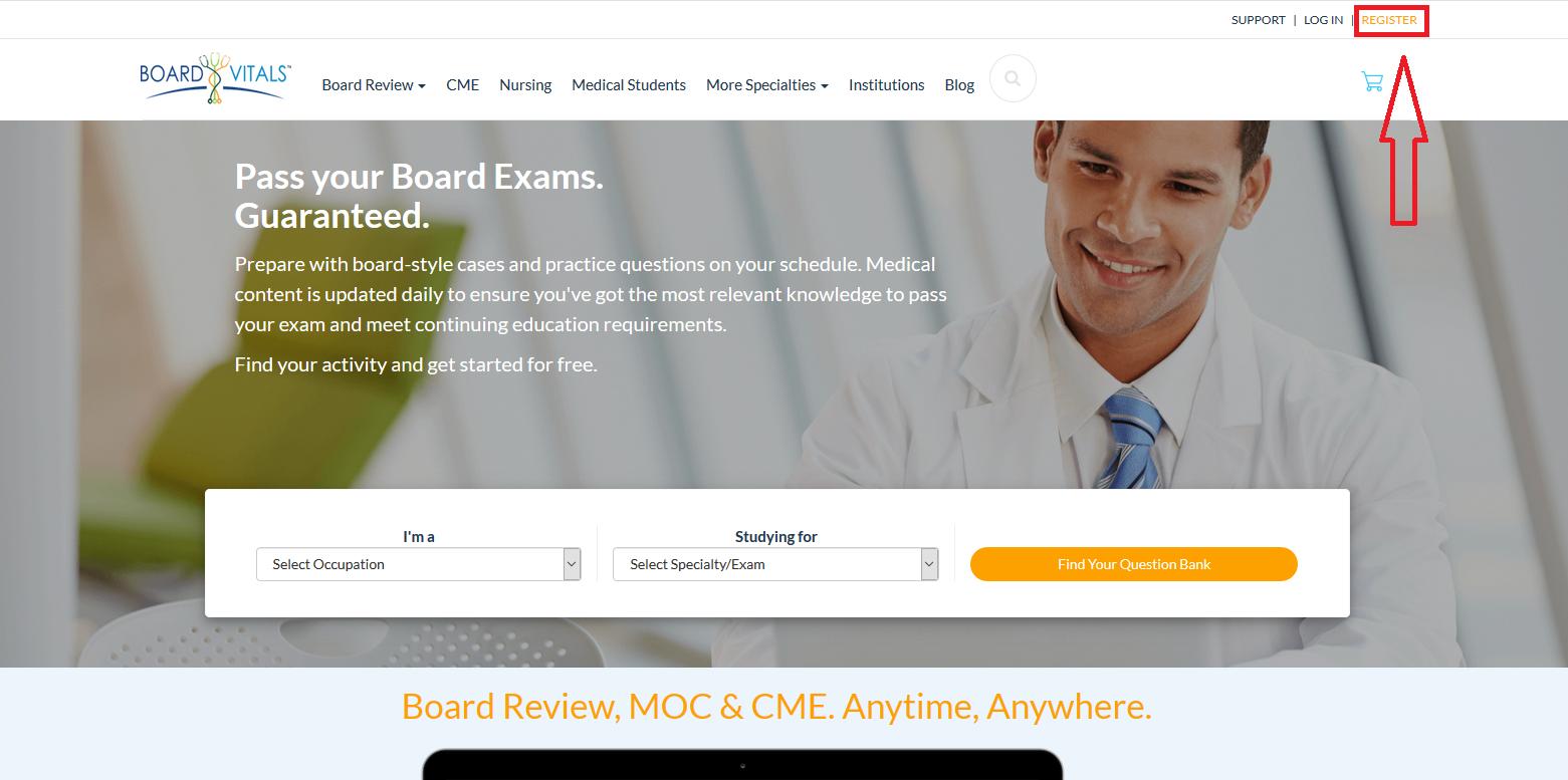 boardvitals homepage