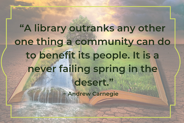 andrew carnegie library quote