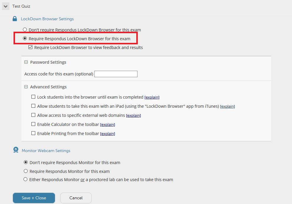 enabling lockdown browser