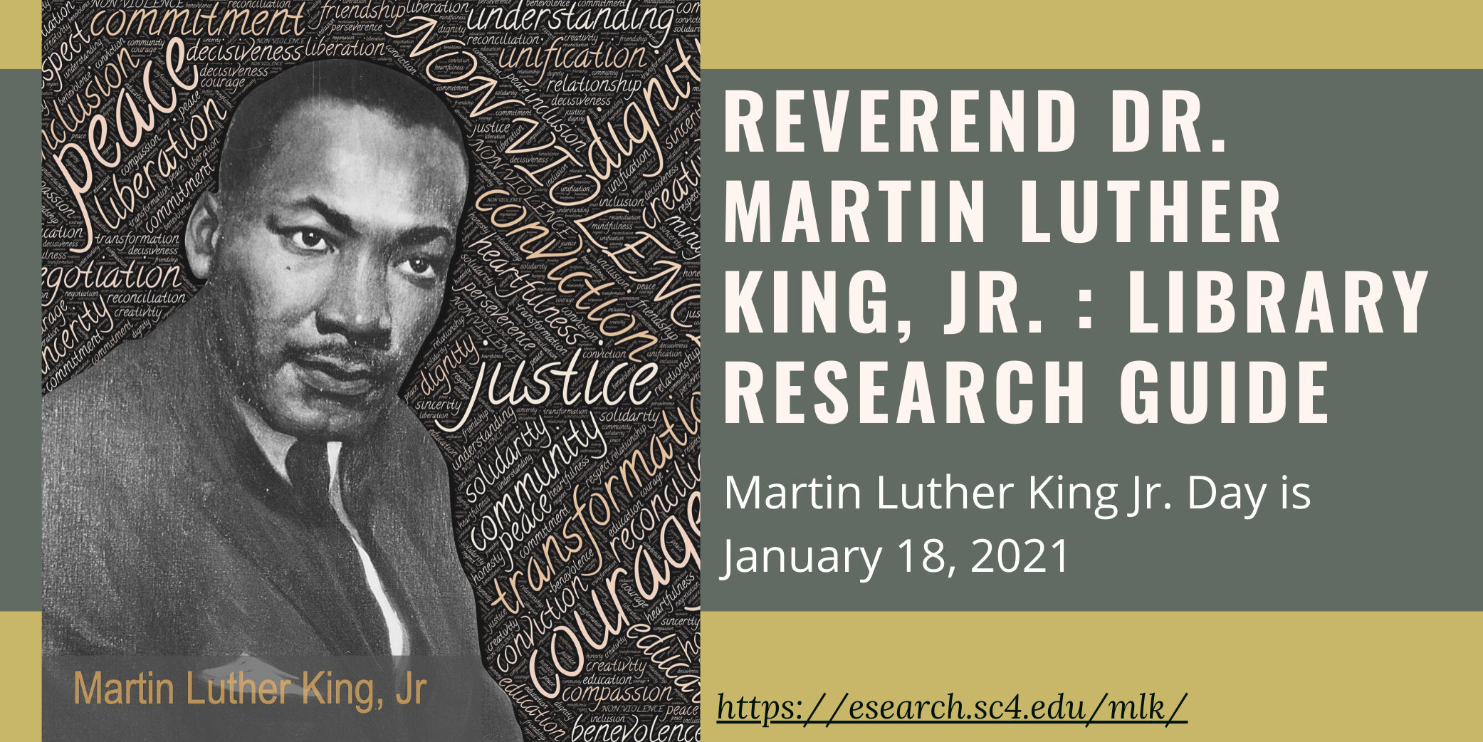martin luther king, jr library research guide- mlk day is january 18, 2021