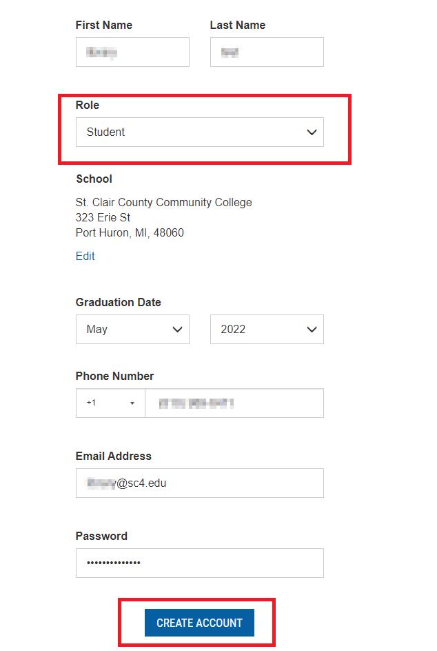 multisim creating a student account