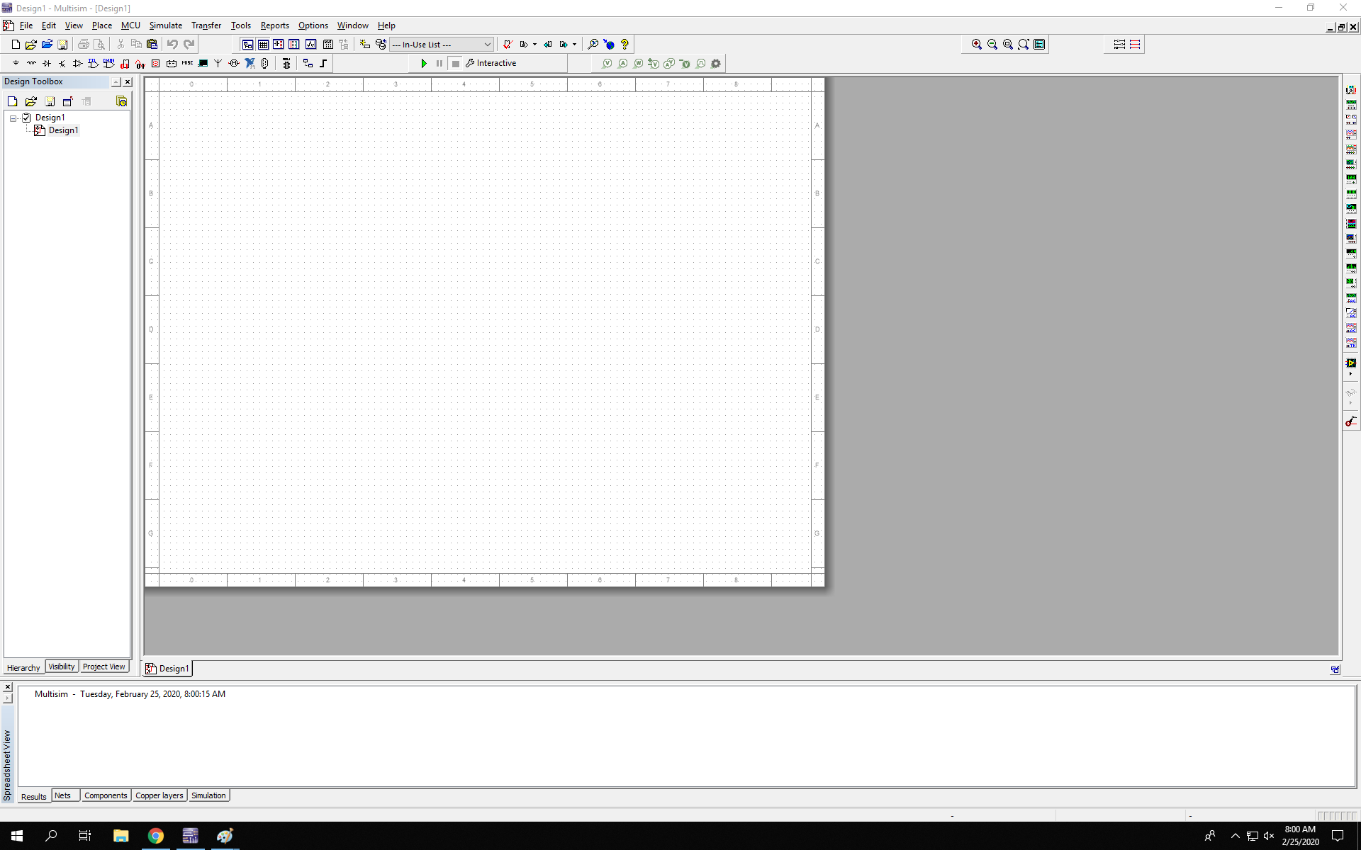 multisim program- open