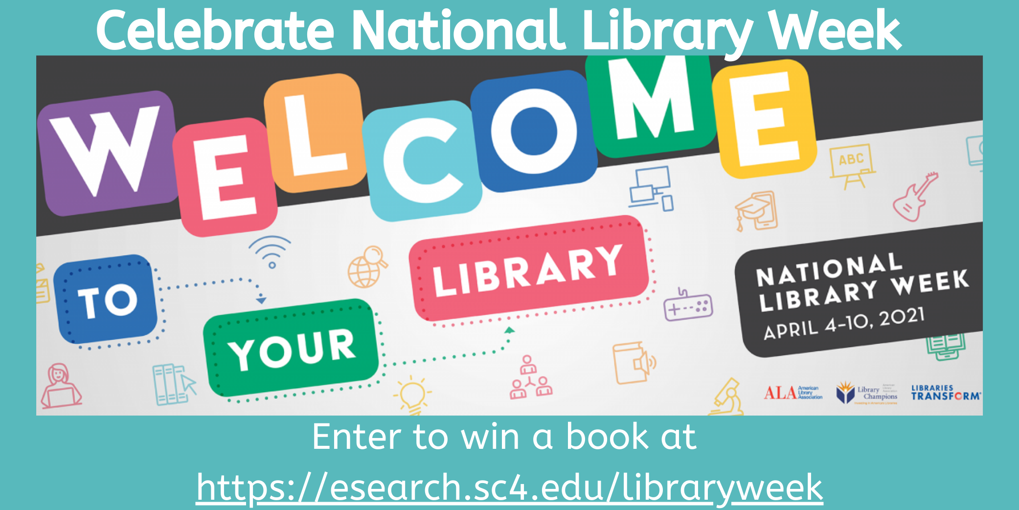 celebrate national library - april 5-april 9, 2021 - enter to win a giveaway book