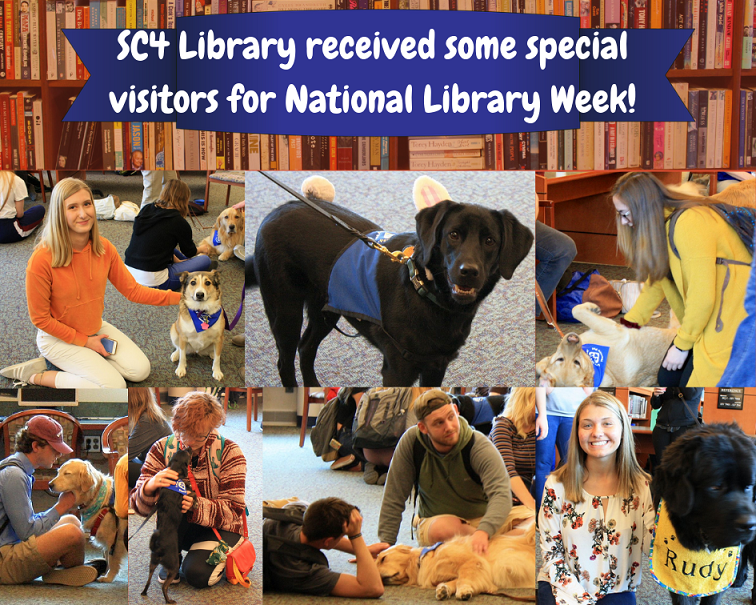 national ibrary week therapy dogs