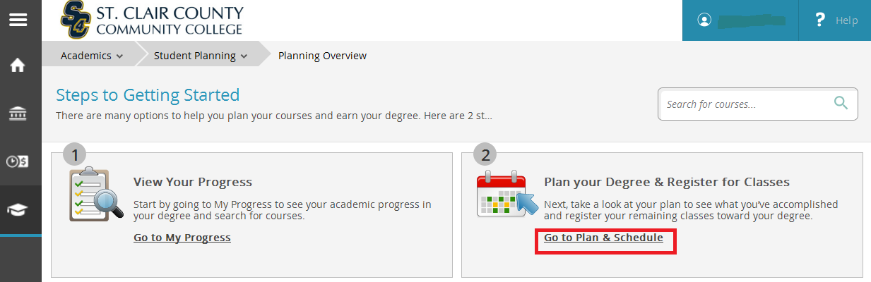 plan your degree and register for classes