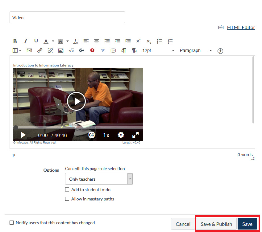 save embedded video