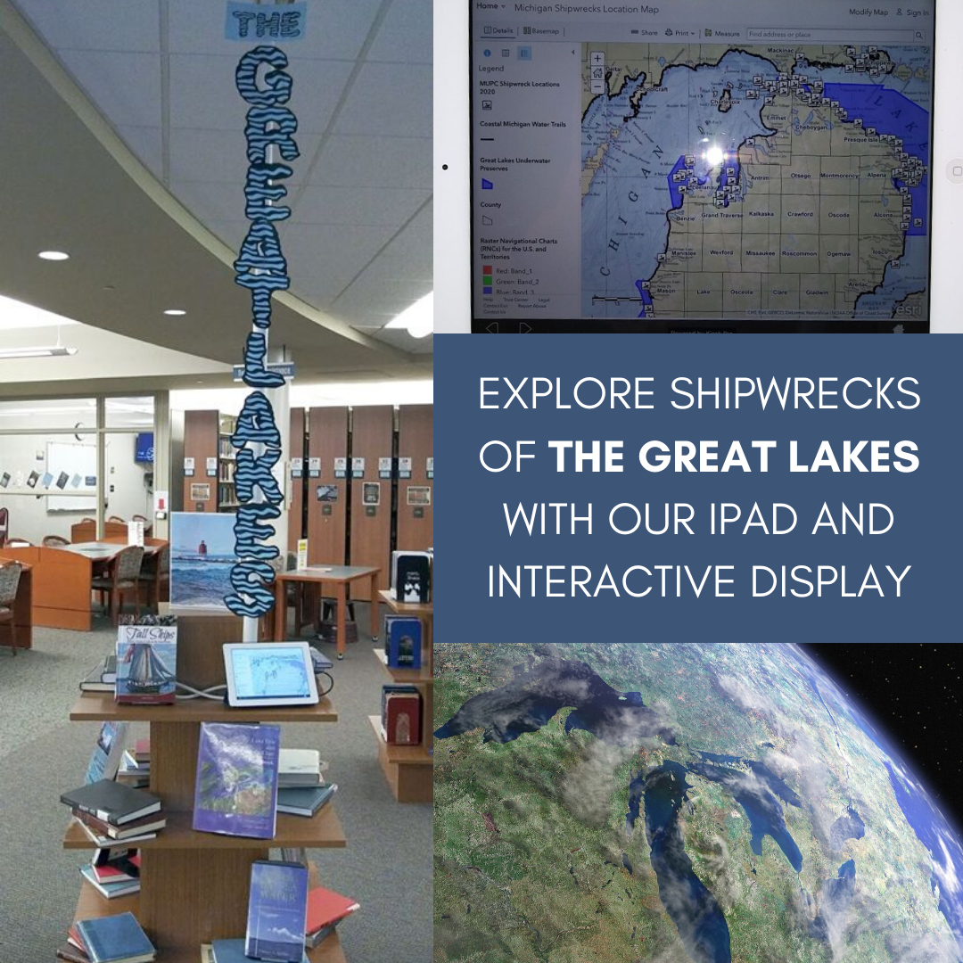 explore shipwrecks of the great lakes with our ipad and interactive display