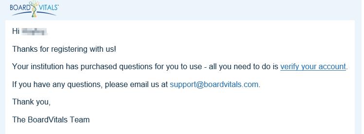 verify boardvitals account