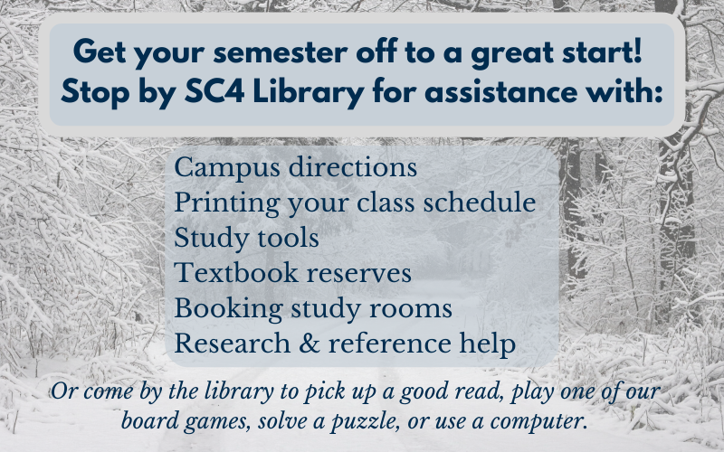 stop by sc4 library for assistance