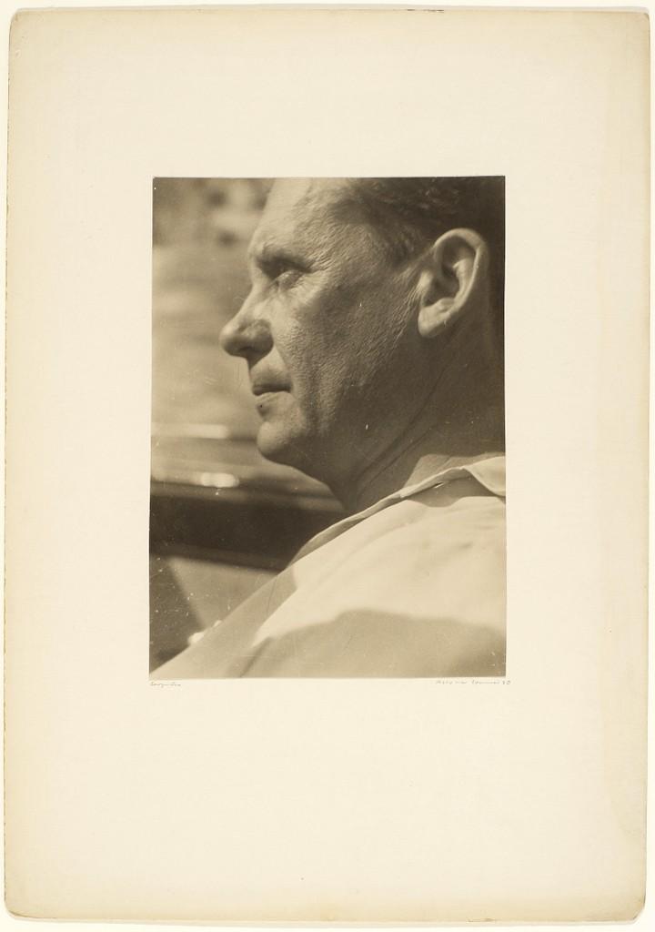 Portrait of Walter Gropius taken by Josef Albers.