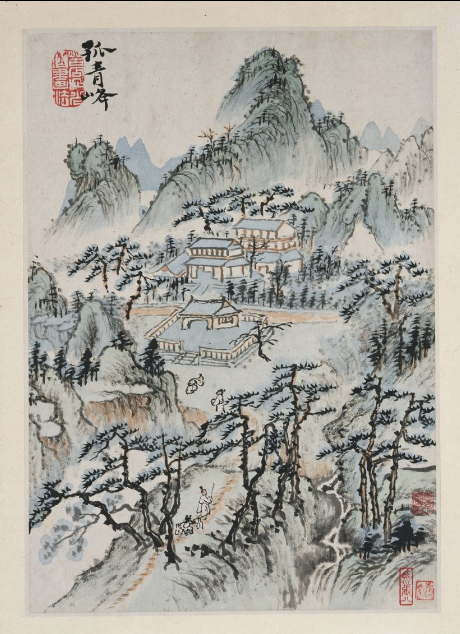 Solitary Azure Peak (Guqing feng), from Luo-Fu Mountains (Luo-Fu shan shuhua ce)