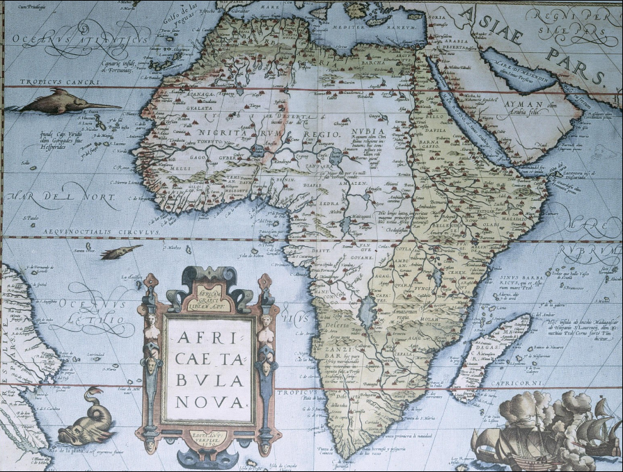 1570 map of Africa