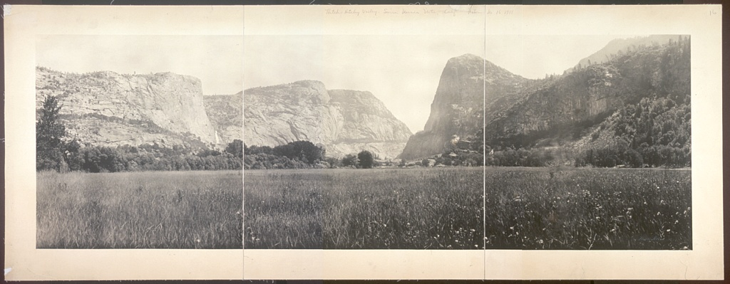 photograph of Hetch Hetchy Valley in 1911