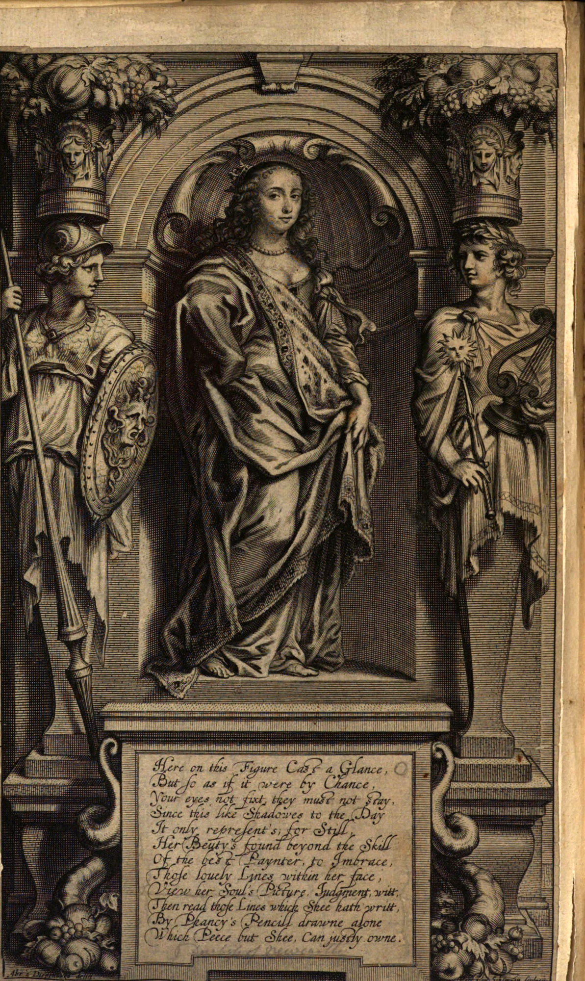 image of frontispiece to Margaret Cavendish's Nature's Pictures