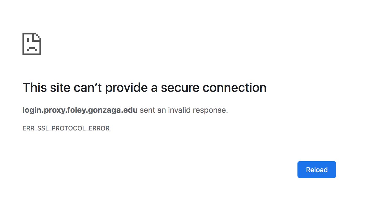 SSL Error