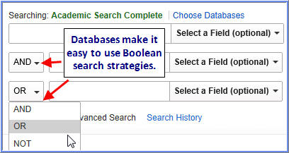 Boolean database search image