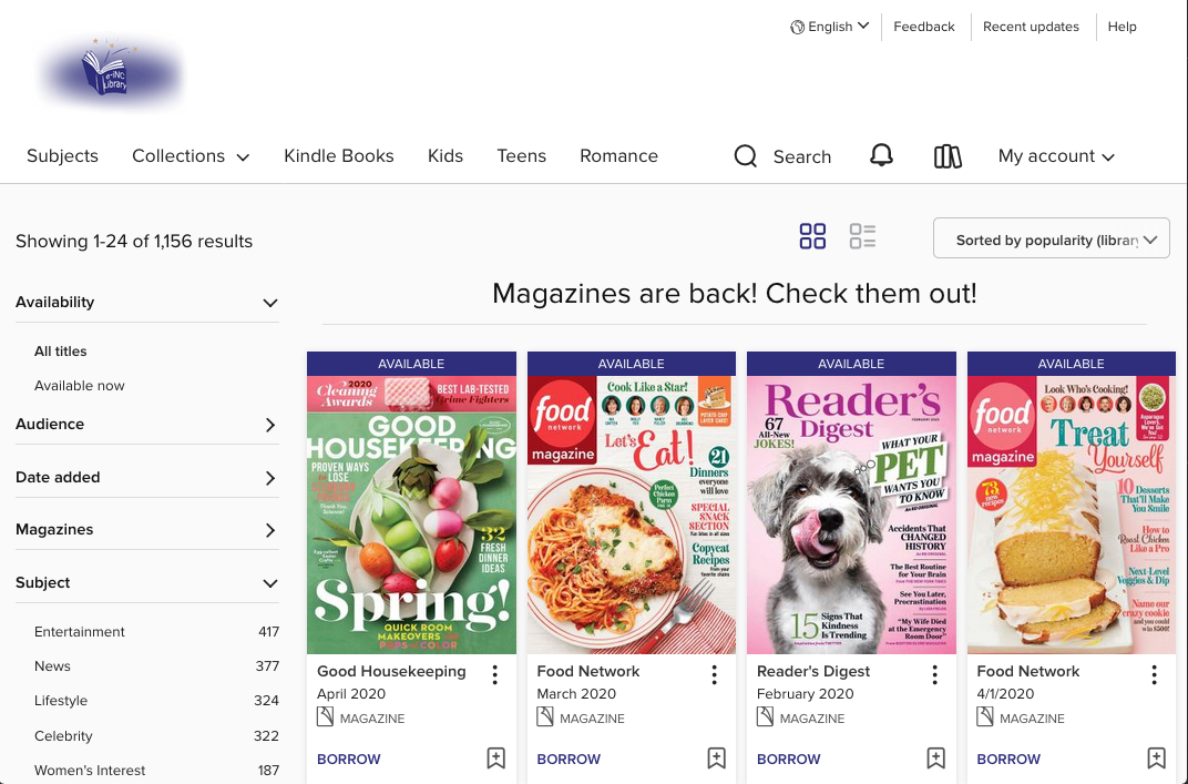 e-iNC Digital Library - Magazine Collection