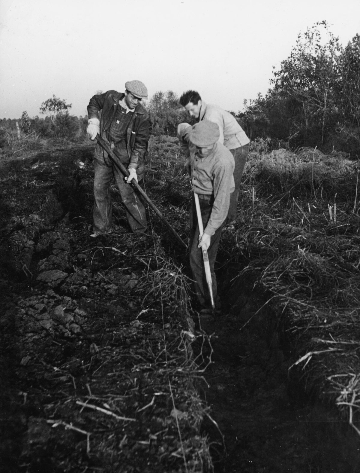 First Settlers Digging Ditch