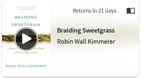 Screenshot of hoopla eBook Braiding Sweetgrass by Robin Wall Kimmerer