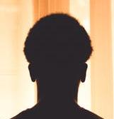 silhouette image male portrait