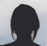 silhouette female portrait