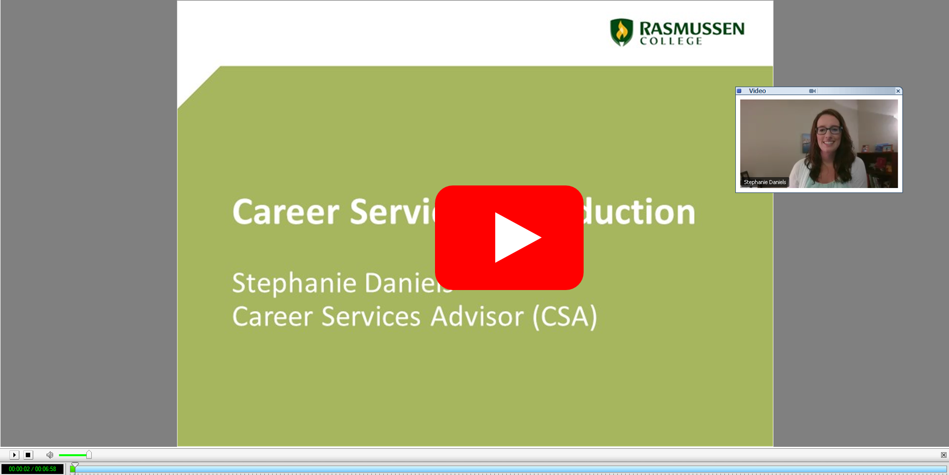 Career Services Introduction Video