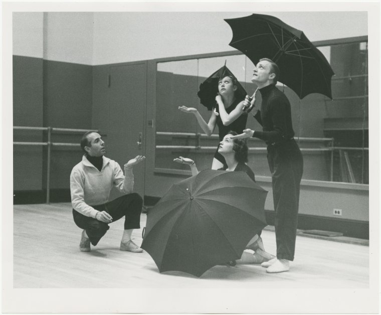 "Jerome Robbins in rehearsal for ""The Concert"""