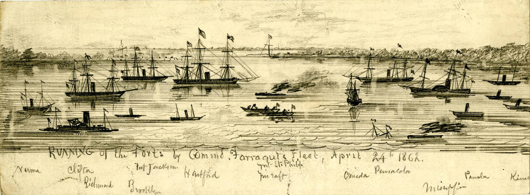 Running of the Forts by Farragut