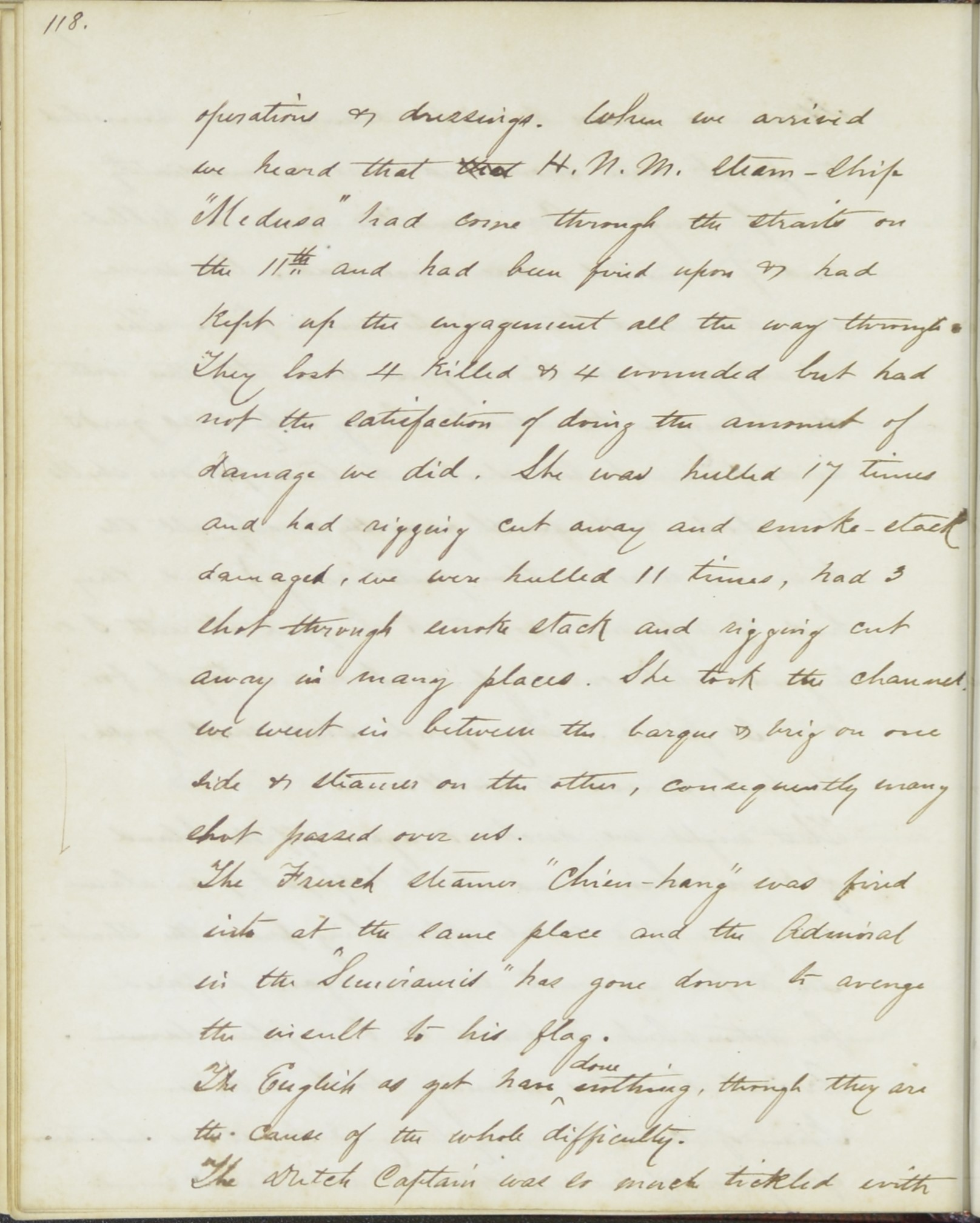 Denby diary entry July 20, 1863