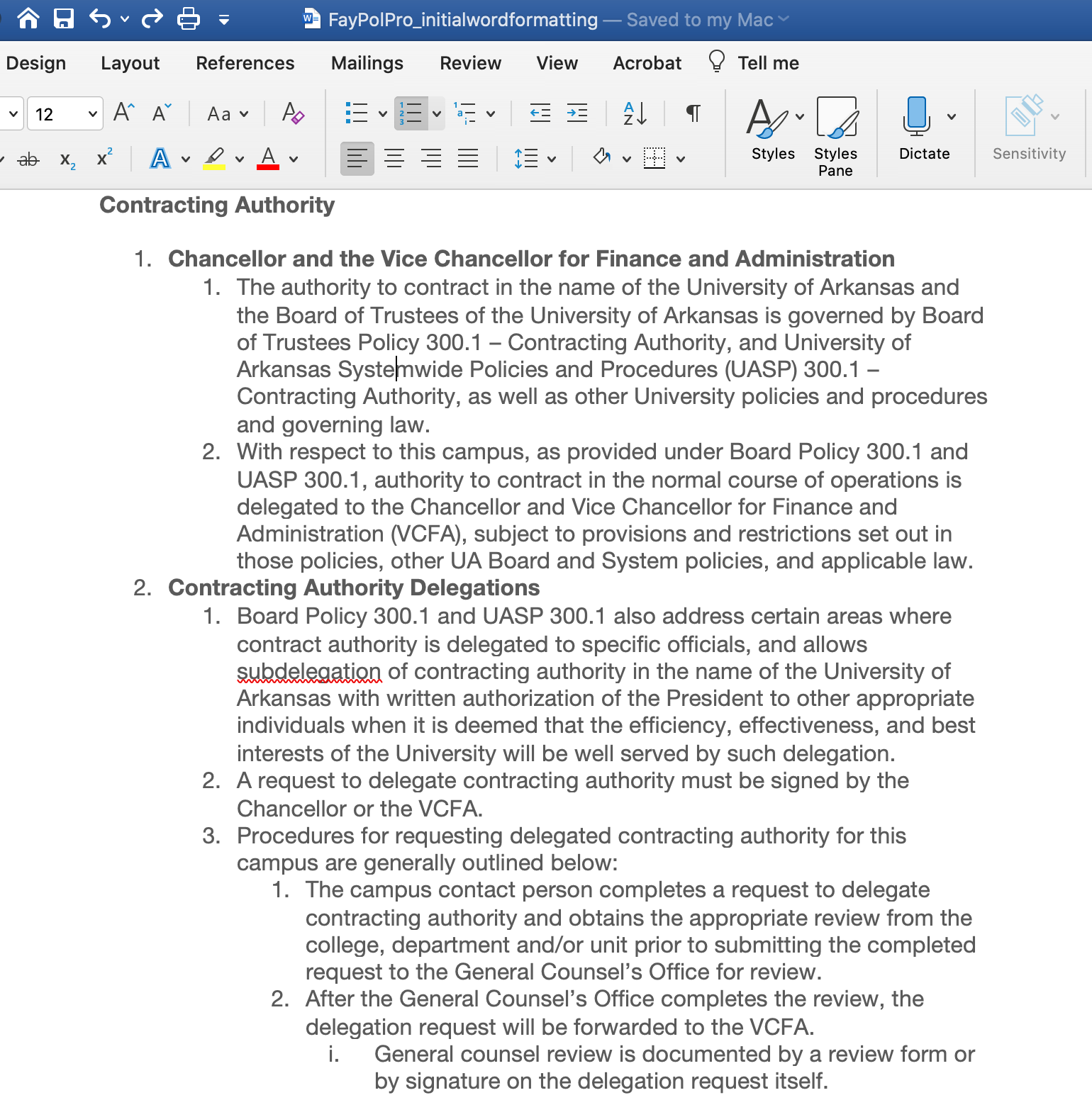 Altered numbering after pasting into Word