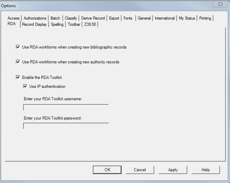 Enable the RDA Toolkit using IP authentication