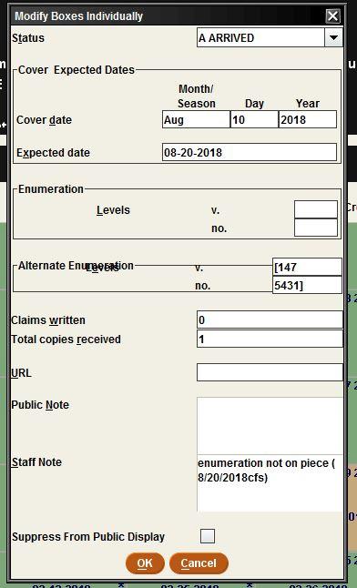 Alternate enumeration error