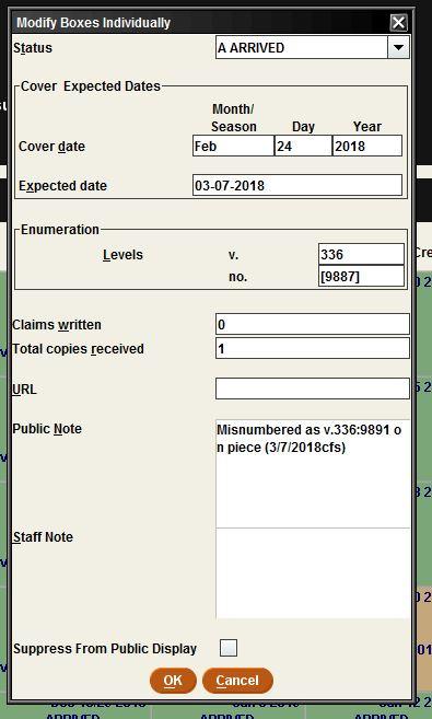 Enumeration error