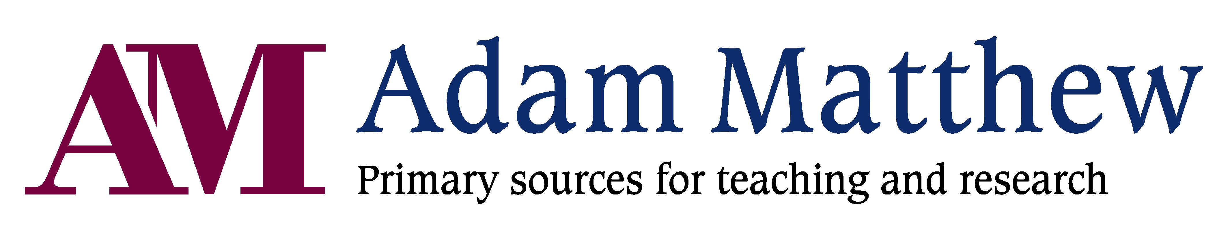 Red AM blue Adam Matthew text logo