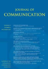 Cover for Journal of Communication
