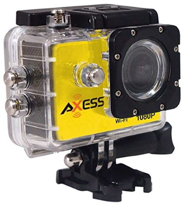 yellow and black rectangular camera