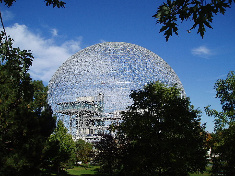 geodesic dome in a landscape