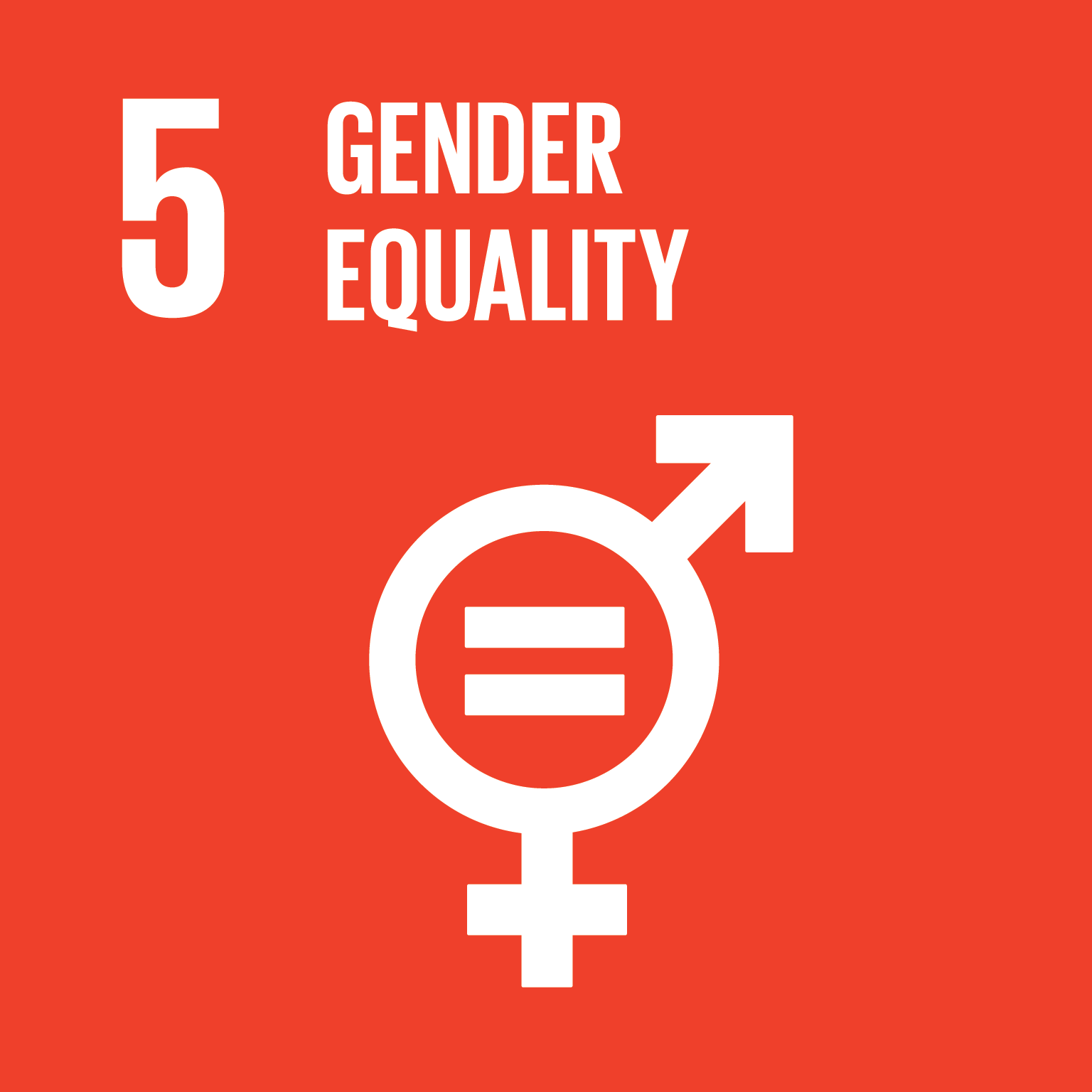 UN sustainable goal logo  five gender equality