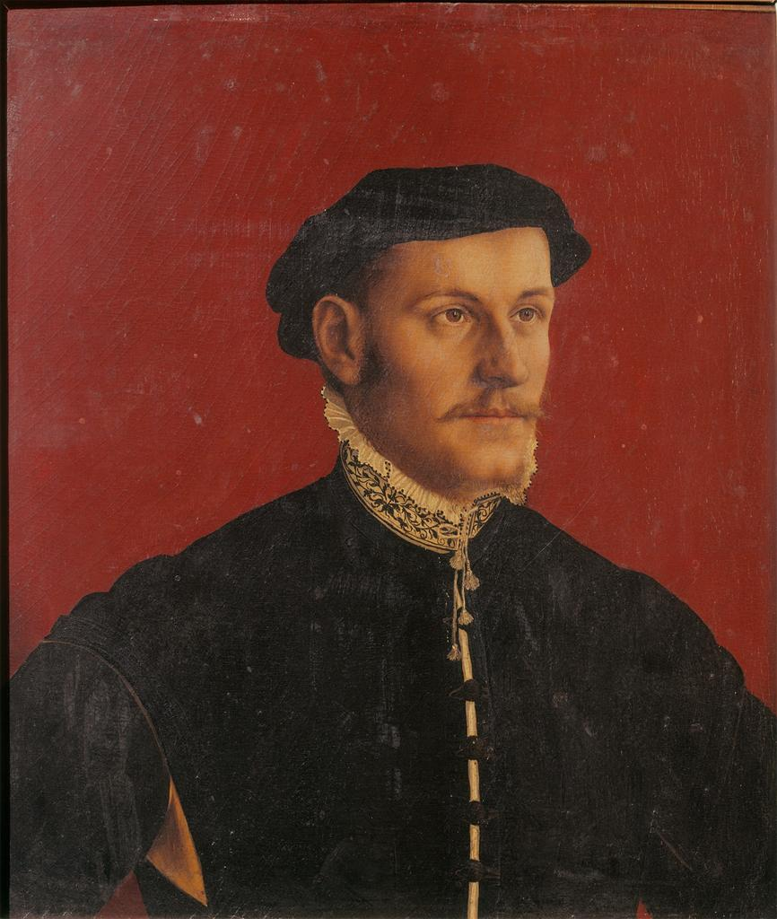 portrait of tudor nobleman by Hans Holbein