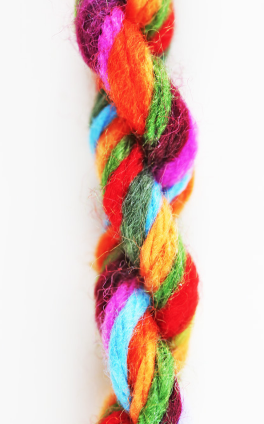 multi colored yarn