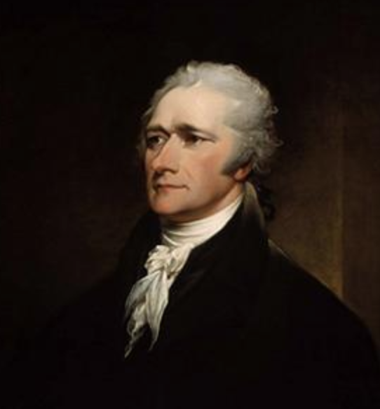oil painting of alexander hamilton