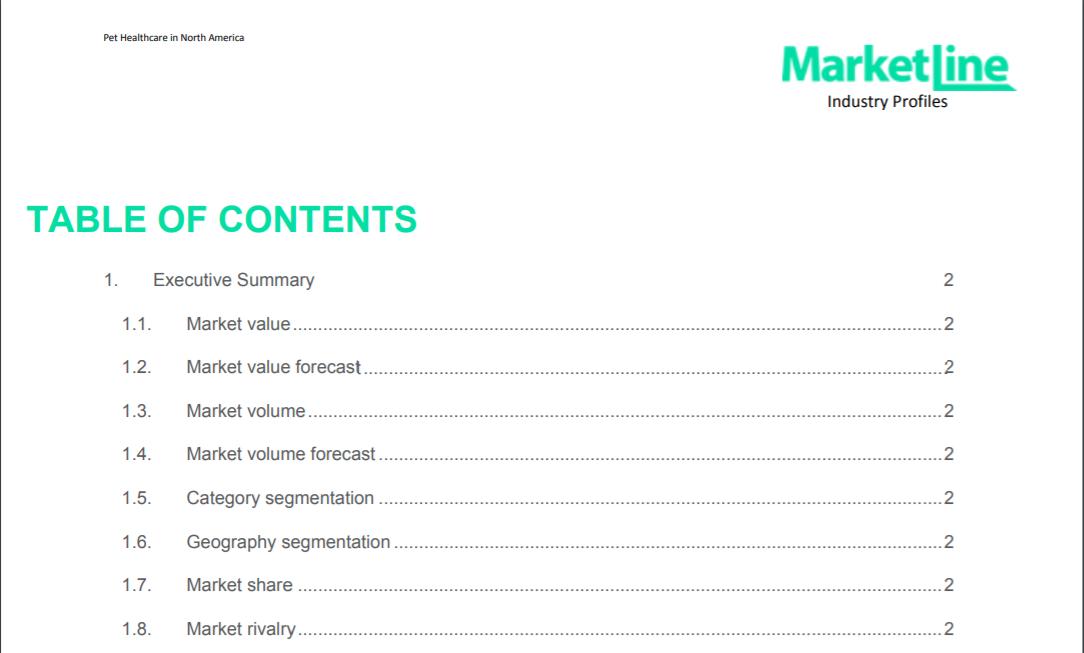 MarketLine Industry Profile detail screenshot