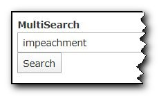 Screenshot of keyword typed into Multisearch field.