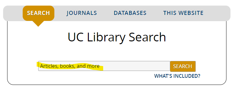 UC Library Search