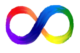 Image: rainbow-colored infinity symbol
